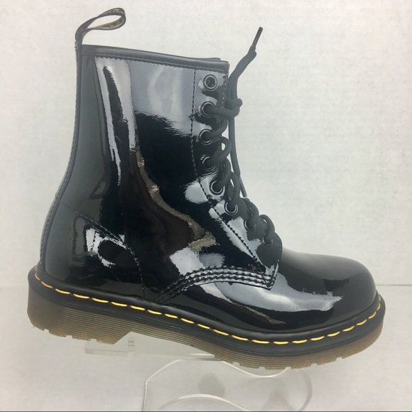 Dr. Martens Shoes - Dr Martens 1460 Women s Black Patent Boots f2abec3bc